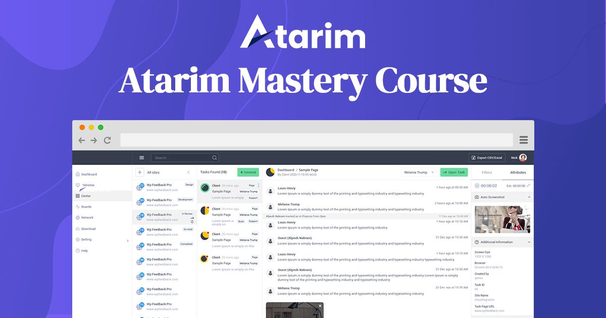 Atarim Mastery